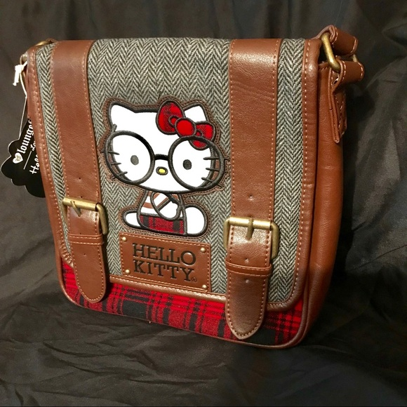 184974712 Loungefly Bags | Hello Kitty Nerd Crossbody Satchel Purse | Poshmark
